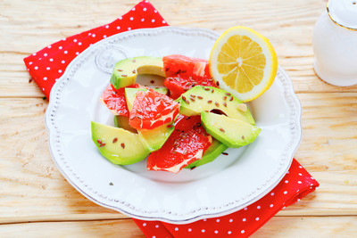 Grapefruit-Avocado-Gratin