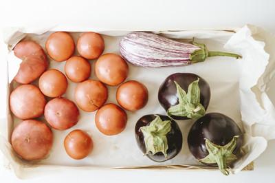 Auberginen mit Paprika